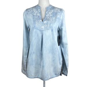 NWT. Coco Colette Light Blue Blouse. Size S.